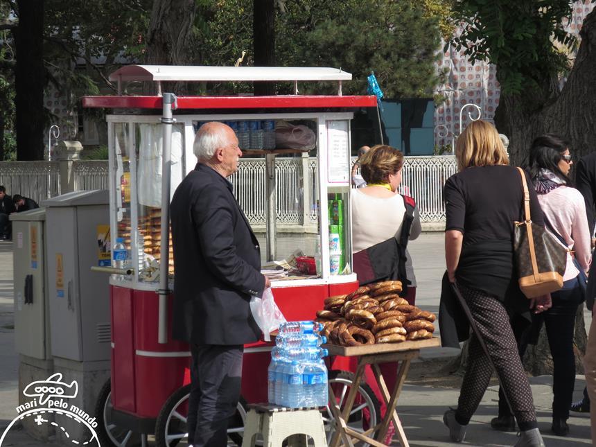 Comidinhas em Istambul - Pretzel Foto: Mari