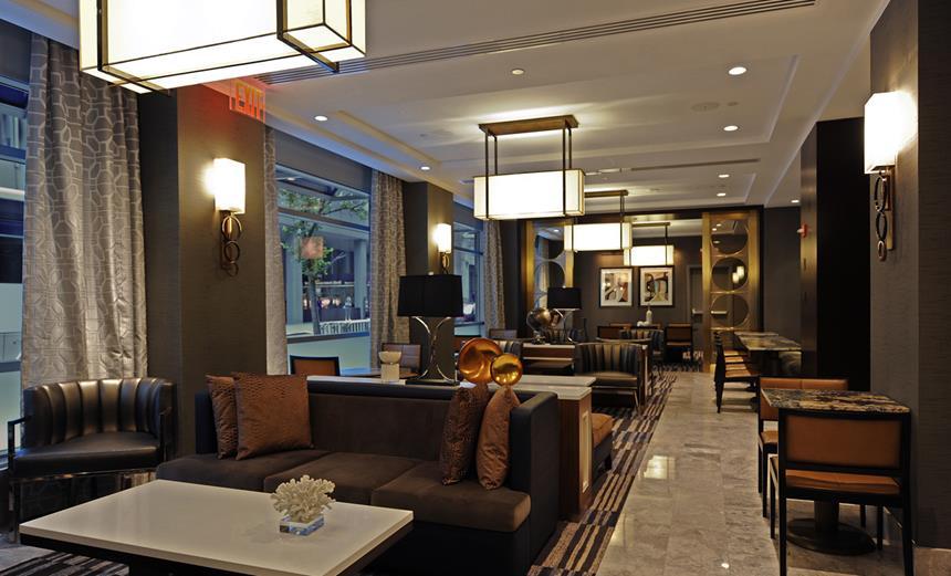 Executive Lounge do New York Hilton Midtown, Nova Iorque, EUA Foto: Divulgação