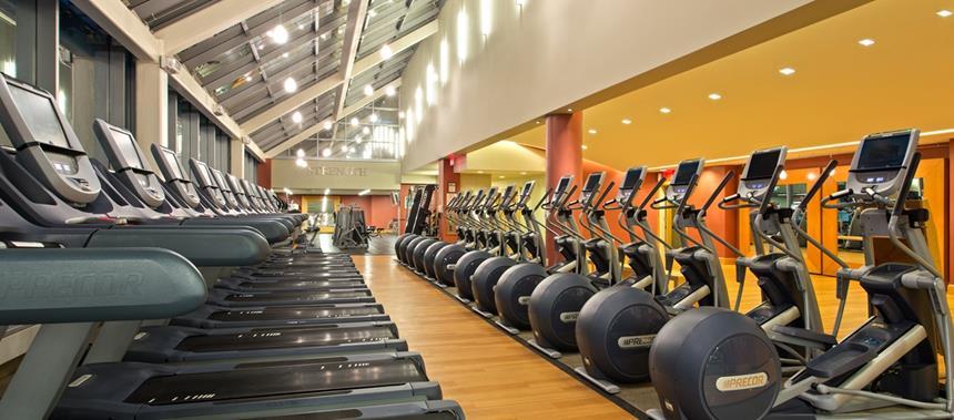Fitness center New York Hilton Midtown, Nova Iorque, EUA Foto: Divulgação