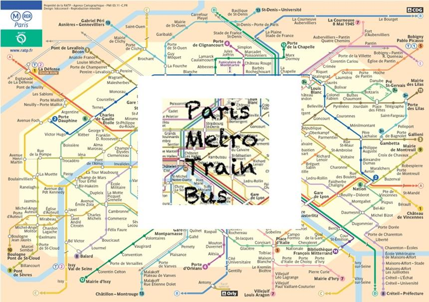 Aplicativo com mapas de Metro, Trem e Onibus de Paris - Offline