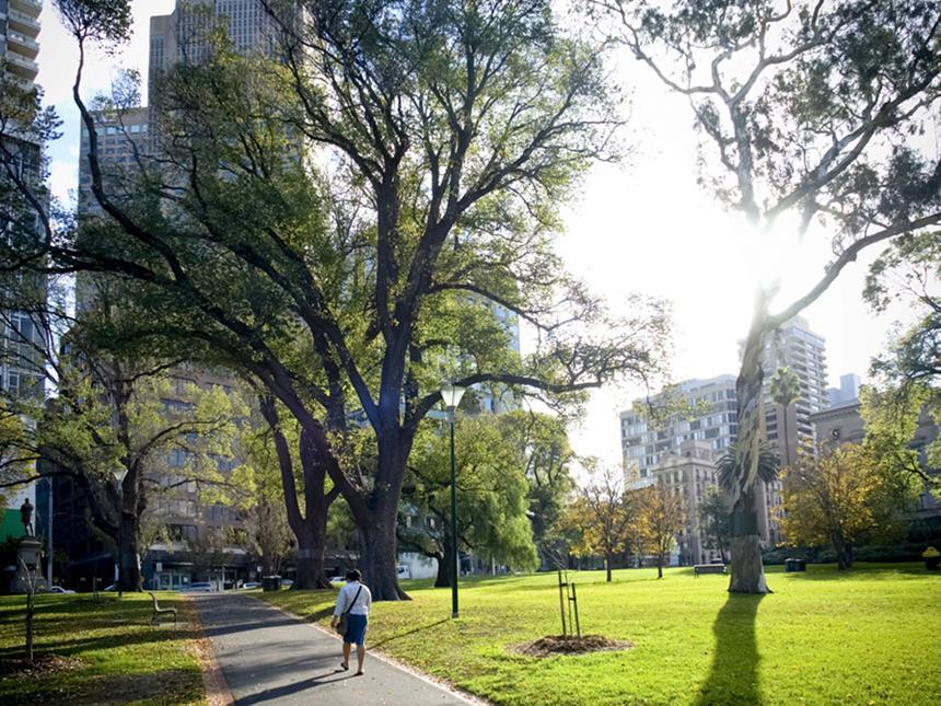 Parque próximo ao Sofitel Melbourne, Australia Foto: Divulgação