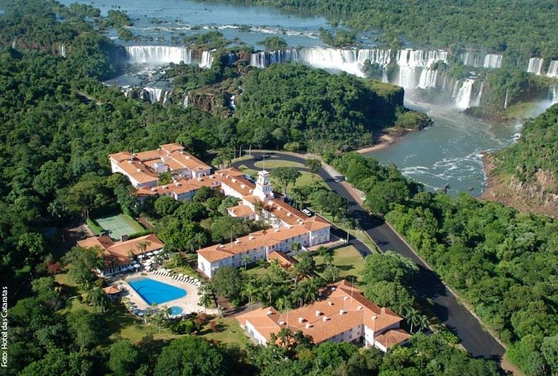 Vista Aerea Hotel das Cataratas-Foz do Iguacu, Brasil