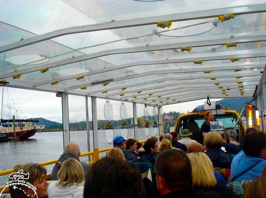 Ketchikan: Com o ônibus anfíbio já no mar