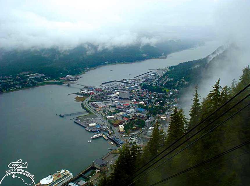 Juneau: Vista do Teleférico Mount Roberts