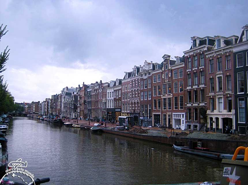 Amsterdã: Canal na área central da cidade
