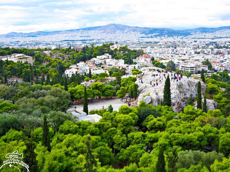 Vista da Acrópole de Atenas
