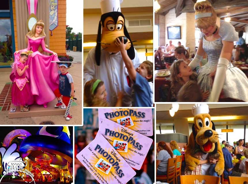 Muitos passeios e atrações para crianças em Orlando. Na foto, o detalhe do cartão Photo Pass.