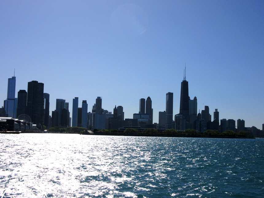 Chicago vista do Lago Michigan