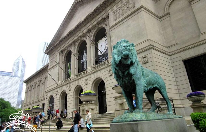 Entrada do Art Institute of Chicago
