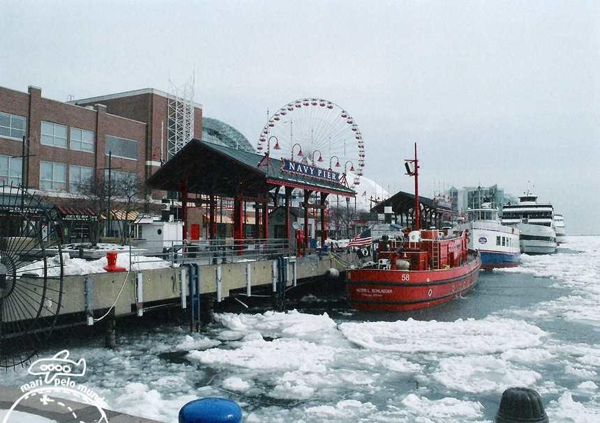 Navy Pier no inverno