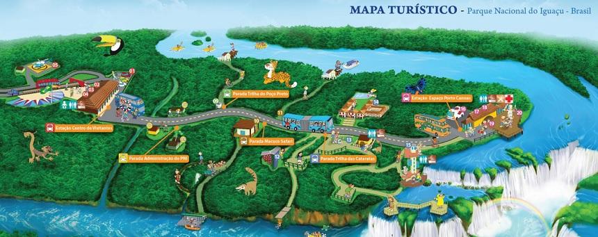 Cataratas do Iguaçu - Mapa do Parque