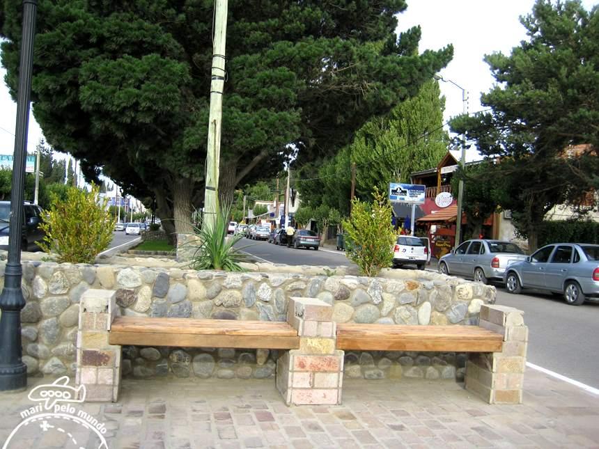 Vista da rua principal da cidade de El Calafate
