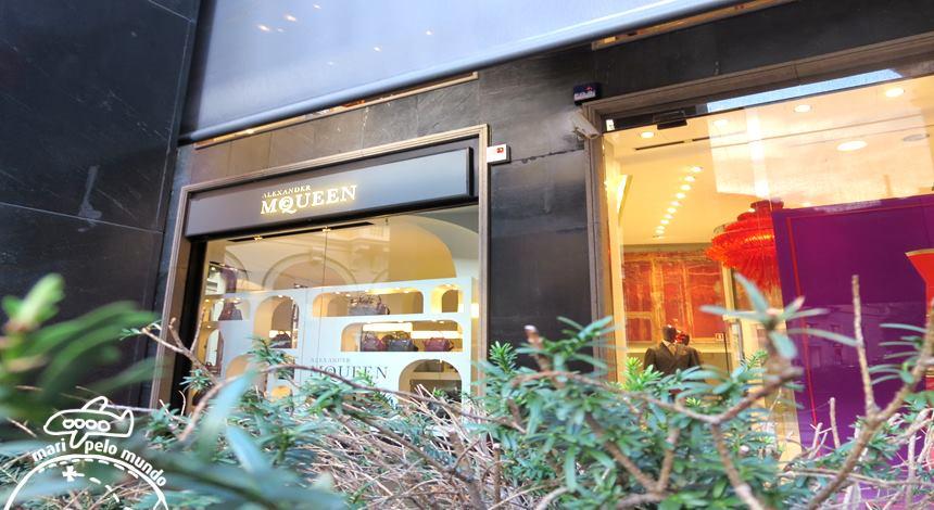 quadrilatero da moda em Milão