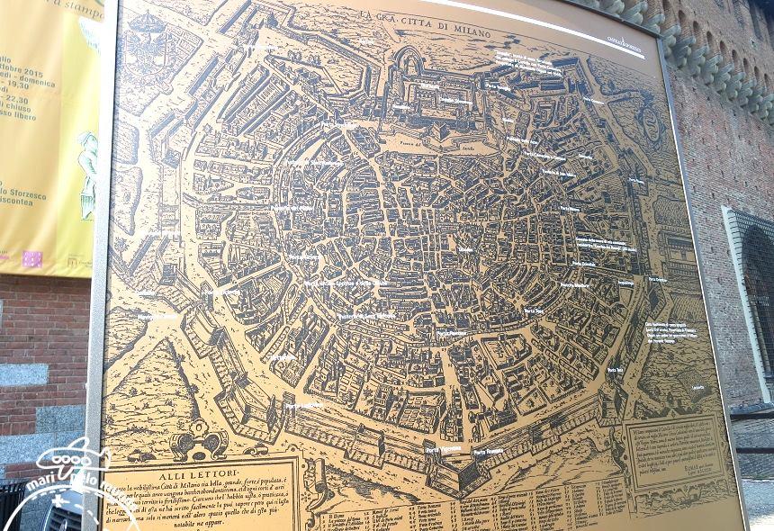 Mapa do Castelo e entorno