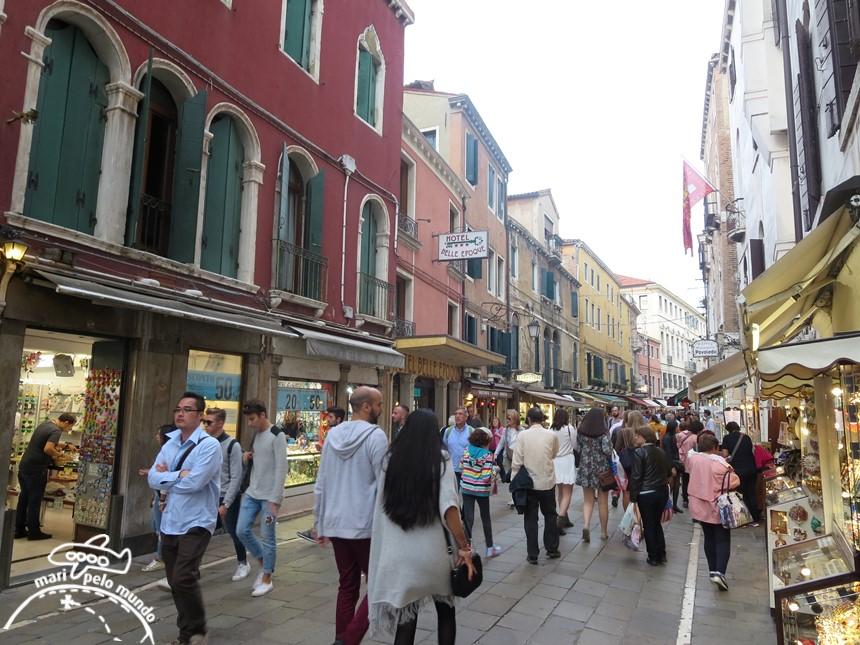 Da estação para a Piazza San Marco