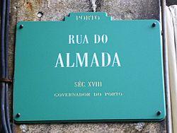 250px-Rua_Almada_placa_(Porto)