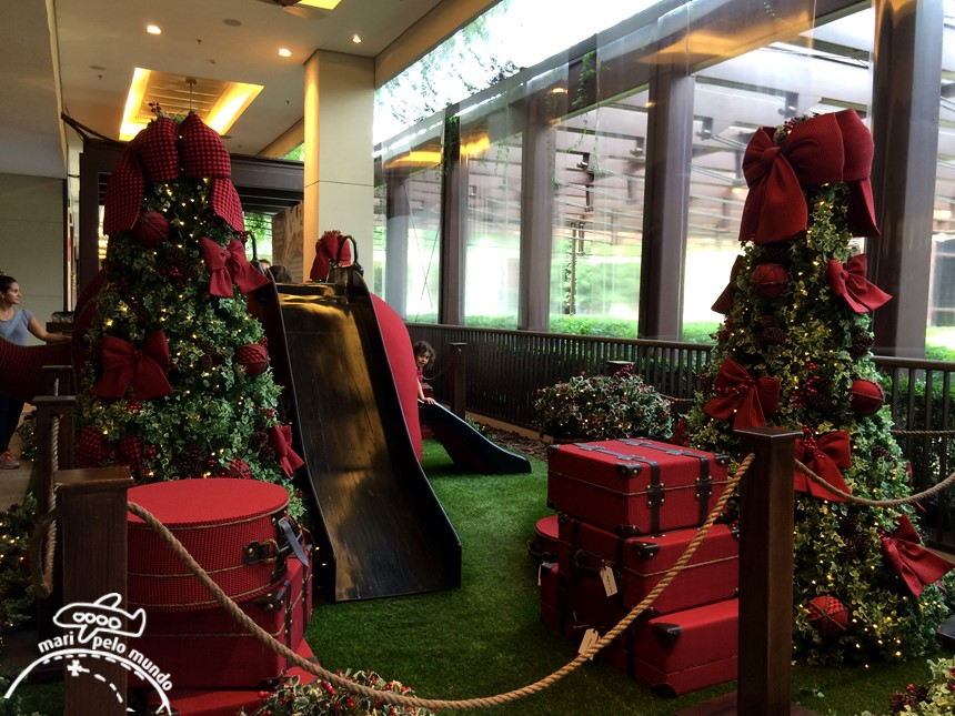 Decoraç u00e3o de Natal 2015 nos Shoppings de S u00e3o Paulo Mari Pelo Mundo viagens exclusivas e de  -> Decoração De Natal Jardim