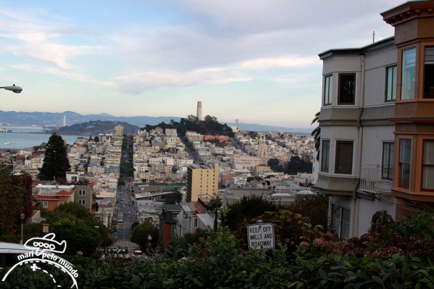 Topo da ladeira da Lombard Street - Sao Francisco