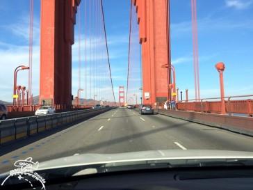 Dirigindo sobre a Golden Gate
