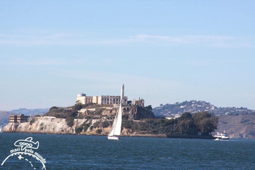 Alcatraz - visto do barco