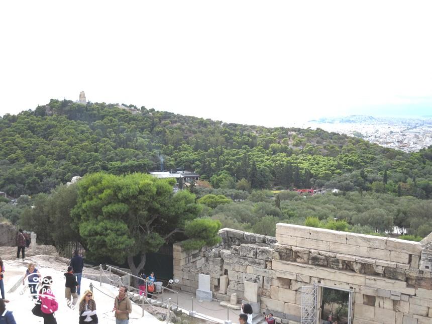 Acrópole de Atenas com criança