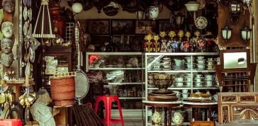 feira de antiguidades