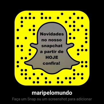 Novidades no Snapchat Mari pelo Mundo