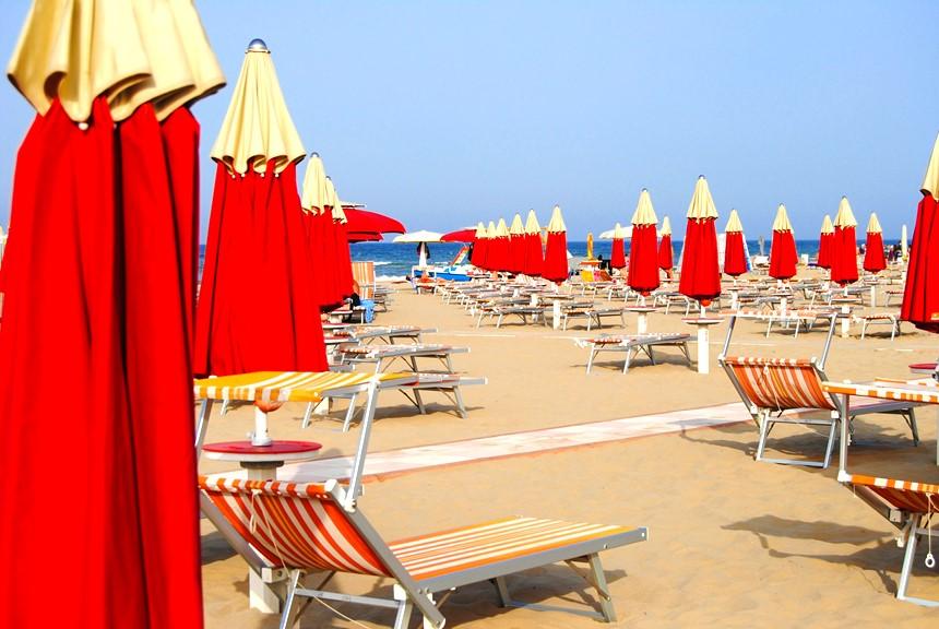 Praia em Rimini