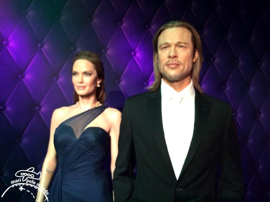 Brad Pitt no museu da Madame Tussauds