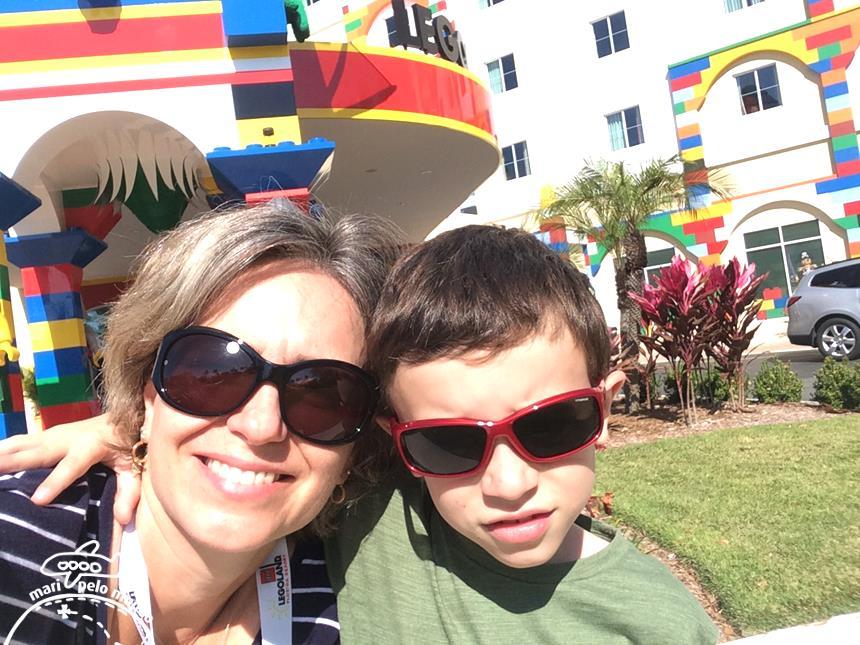 Eu e meu filho no hotel