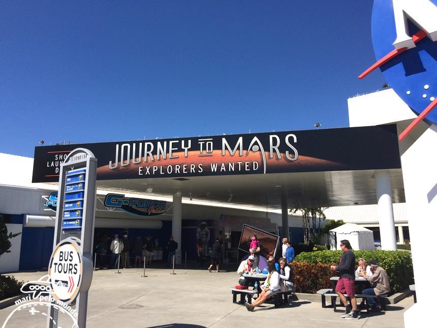 Exposição viagem a Marte
