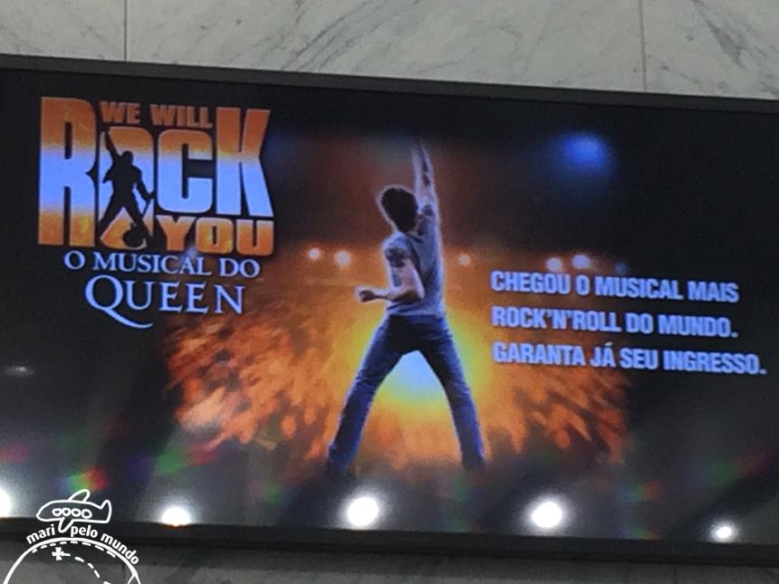 Cartaz da peçca We will rock you