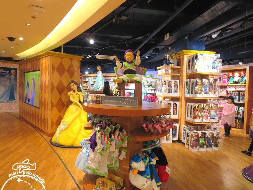 Area da Disney na Galeries Lafayette