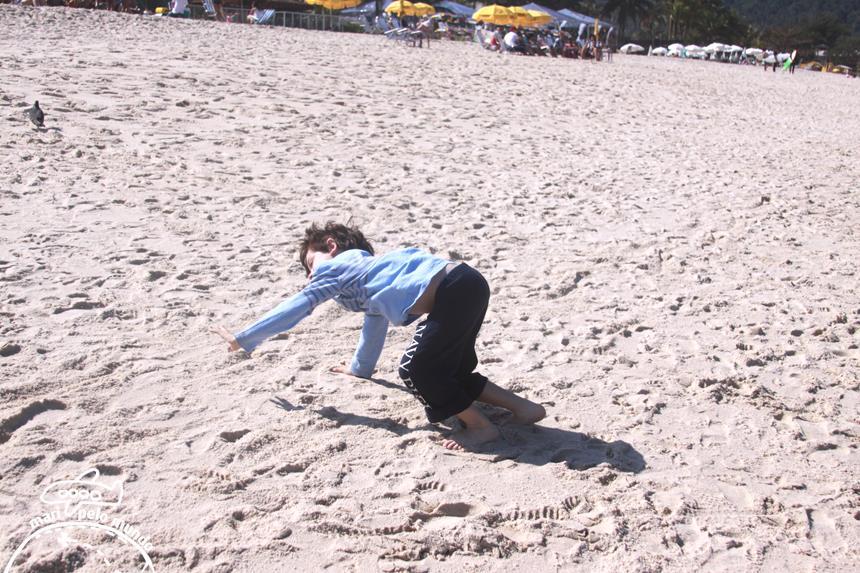 Muito espaço para Brincar na areia
