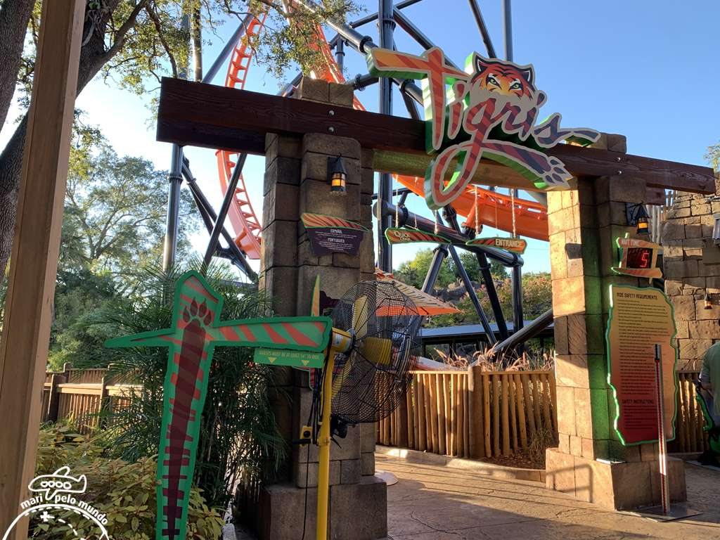 Tigris - a mais nova montanha russa do Busch Gardens