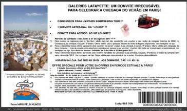 Verão na Galeries Lafayette – Voucher de desconto e brindes