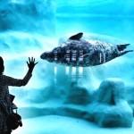 Visitando o aquário de Biarritz