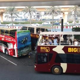Os ônibus Hop-on hop-off em Dubai