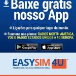 Novo aplicativo EasySim4U para ligações internacionais