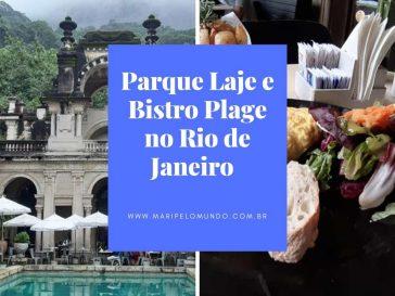 Parque lage e Bistro Plage no Rio de Janeiro