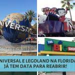 Universal e Legoland anunciam reabertura